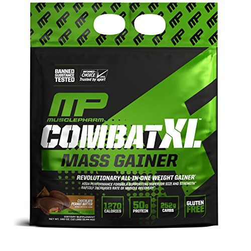 MusclePharm Combat XL Mass Gainer Sport Series (12lbs) Chocolate Peanut Butter
