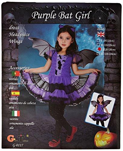 Kostüm für Mädchen Fledermaus