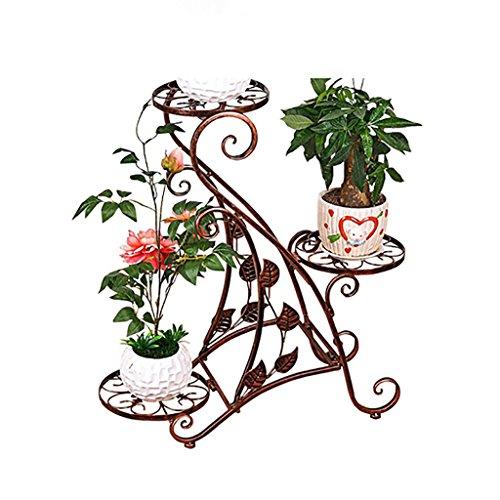 Blumentreppe Pflanzer stufenförmig Pflanzenständer mit 9 Körbe Blumentreppe Metall Blumen Regale
