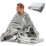 AOLVO Notfall Decke Mylar Thermische Wasserdichte Decke Überleben Decke Tragbar Zelt Isolierung Platz Decke für NASA für draußen/Wandern//Survival/Marathon/Erste Hilfe, Remasuri