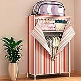 N&B Kleider Schrank kleiderschrank Portable Home DIY modulare Oxford Stoff lagerung Organizer mit Rod größeren Platz Zum aufhängen-C 100x45x170cm(39x18x67)