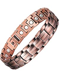 VITEROU Mens Magnetic Pure Copper Bracelet with Healing Magnets Pain Relief for Arthritis,3500 Gauss