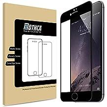 iPhone 7 Proteggi Schermo , Mothca 3D Curvo Edge in Vetro Temperato La Copertura a (Nero Piano Telaio)