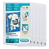 Elba - 100207006 - 10 Pochettes Perforées Fermeture à Zip PVC Lisse 30,5X17cm Incolore
