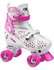 Roller Trac Start Girls - Patines de 4 ruedas para niño (talla regulable) multicolor blanco/rosaTalla: 30 - 33