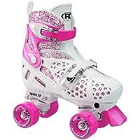 Roller Derby, Pattini in linea regolabili Bambina Trac Start, Bianco (Weiß/Rot), 30-33