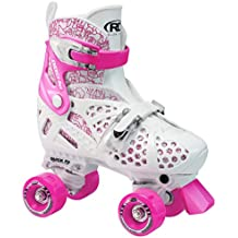 Roller Trac Start Girls - Patines de 4 ruedas para niño (talla regulable) multicolor blanco/rosaTalla: 34-36