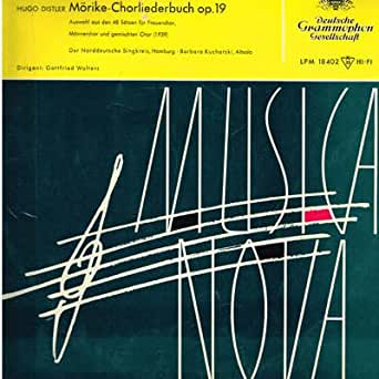 Hugo Distler - Mörike-Chorliederbuch Op. 19 - Deutsche Grammophon Gesellschaft - LPM 18 402