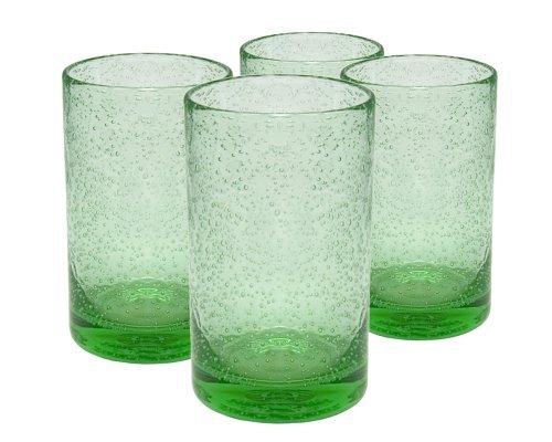 Artland Iris Highball Glasses, Light Green, Set of 4 by Artland (Iris Highball)
