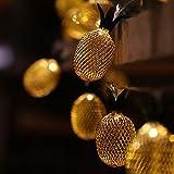 LED Ananas Lichterkette Deko Lampe - 5 Meter Gesamtlänge | 20 LEDs warm-weiß - kein lästiges austauschen der Batterien | NICHT batterie-betrieben, sondern mit Netzstecker | von CozyHome