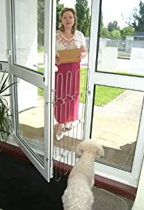 NEW Pet Baby Dog Stop Security Gate Barrier for Doors - All Steel- Retractable