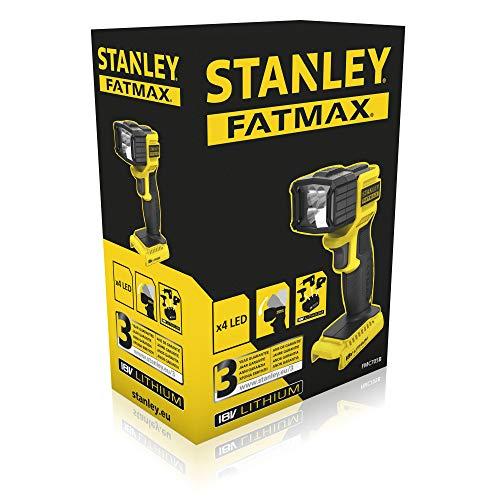 STANLEY FATMAX FMC705B-XJ - Linterna LED 18V, 120 Lm, cabezal pivotante (Sin batería y cargador)