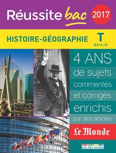 Histoire-Géographie Tle ES, L, S