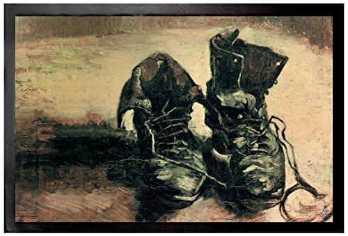 Vincent Van Gogh - Naturaleza Muerta Par De Zapatos, 1886 Felpudo Alfombrilla (60 x 40cm)