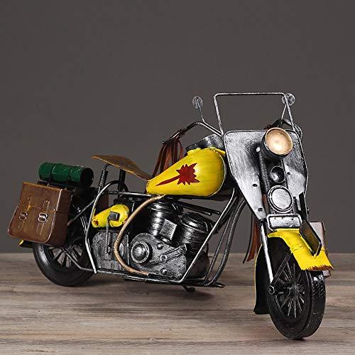Ludage Wohnaccessoires Handwerk, Vintage Handgemachte alte Ornamente Eisen Spielzeug Motorrad Modell Ornamente