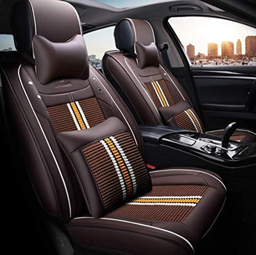 Preisvergleich Produktbild Wsjfc Autositzbezug,  Car Styling für BMW F10 F11 F15 F16 F20 F25 F30 F34 E60 E70 E90 1 3 4 5 7 Serie Gt X1 X3 X4 X5,  Schwarz + Gelb, Braun
