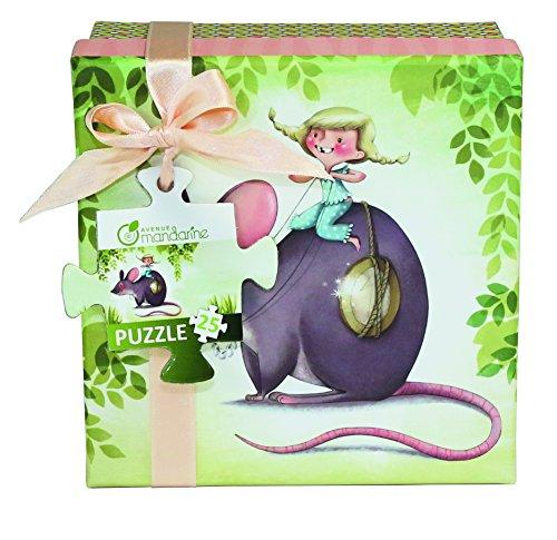 Avenue Mandarine 62420O Un Puzzle 25 pièces - La Petite Souris - 25 x 25 cm