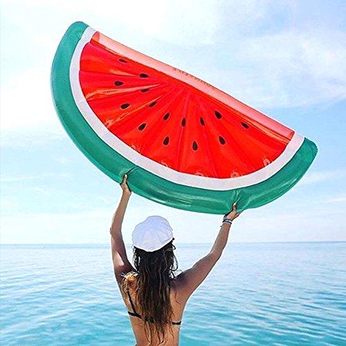 Mystery & Melody Aufblasbare halbe Wassermelonen-Floss-Luftmatratze nehmen auf Wasser für Sommer-Wasser-Partei für Erwachsene Kinder EIN Sonnenbad