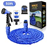 "HOMOZE 50ft Garden Hose - Expandable Water Hose Pipe with 1"", 3/4"", 1/2"""