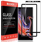 MASCHERI Verre Trempé pour Samsung Galaxy Note 9, [3D Couverture Complète] [Résistant aux Rayures][Cadre de positionnement ] Film Protection écran - Noir