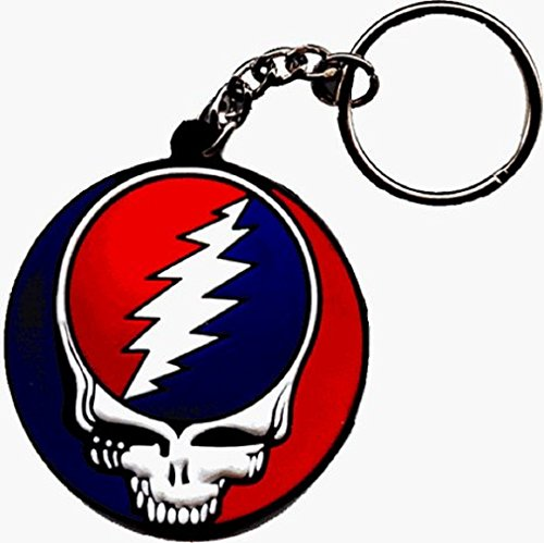 "Classic GDP Inc. - The Iconic Grateful Dead Steal Your Face Portachiavi Keychain - 1.75"" Diameter"