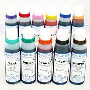 airbrush edible cake spray paint ink 12 x 4oz bottle set. Black Bedroom Furniture Sets. Home Design Ideas