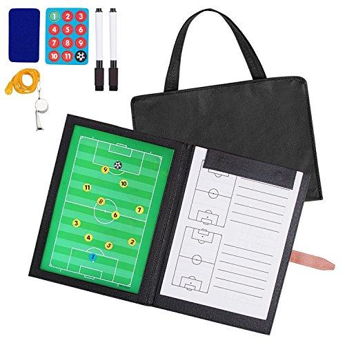 Professional Faltbares Fußball Taktiktafel und Tasche (mit Textmarker, Radiergummi, Magnete),...