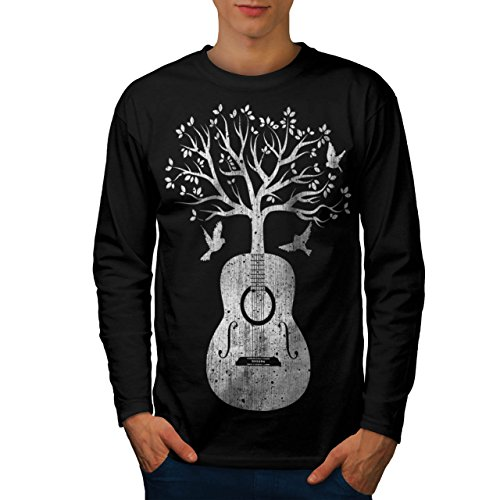 guitar-music-tree-life-melody-men-new-black-s-long-sleeve-t-shirt-wellcoda