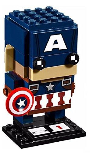 Exclusive - NEW Marvel Superheros LEGO® BrickHeadz Sets Captain America Set 41589 includes Baseplate