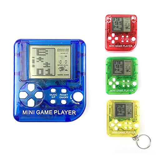 TOOGOO I bambini hanno tenuto in mano il mini gioco di Tetris del gioco della console del gioco portatile della console Nuovo portatile Trasparente Colori casuali