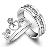 Best Male And Female Rings - Happy GiftMart Silver Plated Couple Ring for Women Review