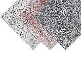 Granit Boden Bodenfliesen Bodenbeschichtung Farbchips - Schwarz-Weiss-Rot 25qm
