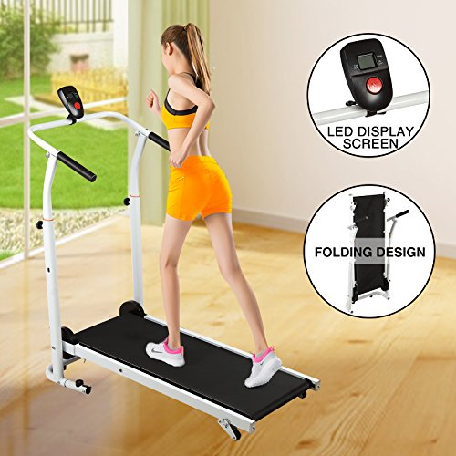 FitnessClub Folding Manual Tread...