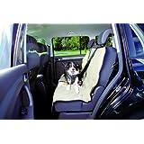Couverture pour sièges de voiture, 1,40 × 1,20 m, beige, pour chien