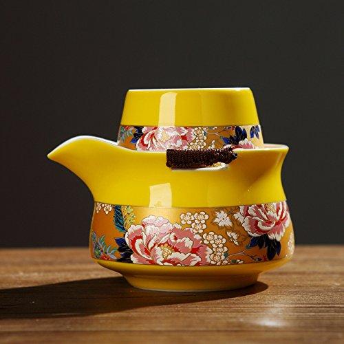 YUANLINGWEI Tragbare Reisen Kaffee Set Keramik Teeservice Einfache Kaffee Wasserkocher. D