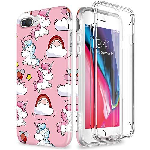 SURITCH Kompatibel mit iPhone 7 Plus Hülle iPhone 8 Plus Case 360 Grad Hüllen mit Integriertem...