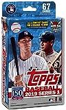 Hanger Box 2019 Topps Baseball Factory Sealed Series One mit 67 Karten inkl. möglicher Autogramme, Rookies Spiel Gebrauchte Relikkarten UVM.