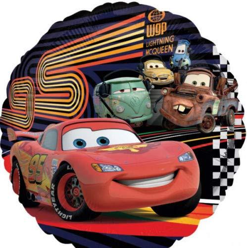Ballonim Cars Rund Lightning McQueen ca. 45cm Luftballons Folienballon Party Dekoration Geburtstag