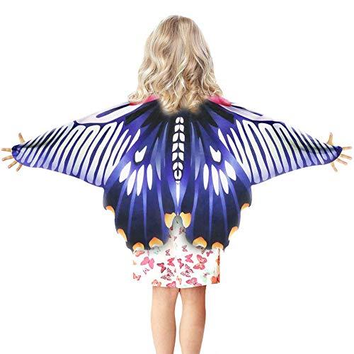 Tanz Kostüm Accessoires Mädchen - GLXQIJ Fliege Kindheit Kinder Verträumt Fee Schmetterlingsflügel Cape Kostüm, Mädchen Prinzessin Rollenspiel Tanz Accessoire Party,Purple,120 * 60CM