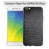 GoGu Case For OPPO F3 Plus Slim Carbon Fiber Rubber Soft