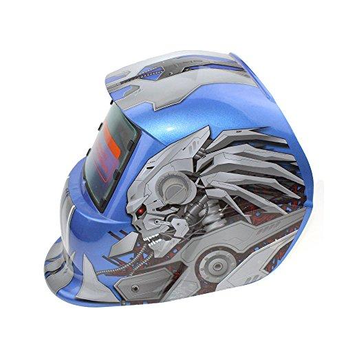 elm Automatische Dimmen Maske Photoelektrische Schweißmaske Schutzausrüstung - Blaue Transformatoren ()