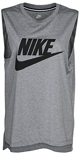 Nike Women's Dri-Fit Elevate Elastika Training Tank Top-Heather Gray-Large (Fit Tank Cotton Dri)