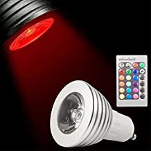 XCSOURCE®3W GU10 16 colores que cambian la bombilla del RGB LED de control remoto Iluminación para el hogar LD129