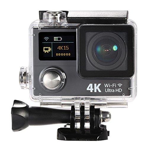 Andoer® 2 pollici lcd 4k dual screen ultra hd wifi sport macchina fotografica di azione 15fps 1080p 60fps 12mp 170 ° grandangolare per hdmi output 30m impermeabile della camma dvr fpv