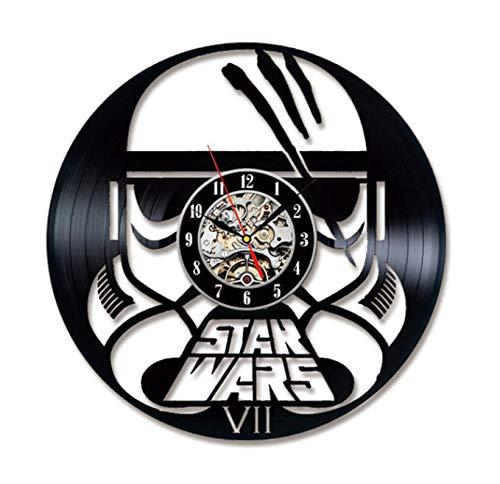 che Schallplatte Stumm Wanduhr Modernes Design 3D Dekoration 7 Star Wars Led-leuchten Hängenden Tisch Dekoration 12 Zoll ()