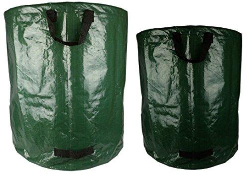 (Pack von 2) Große Garten & Blatt Abfallsack, Wasserdicht - Lasttrage - Wiederverwendbare - Faltbare Tasche / Perfekt für den Datenabgleich, Lagerung oder Transport