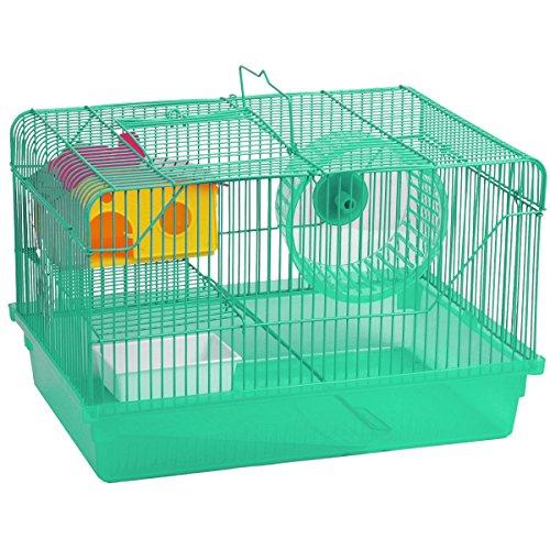 Promobo Käfig Hat Hamster mit Haus Habitat hastiges mit Rad Hat Spielen Grün