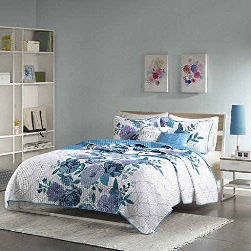 Headley Decke Set, Polyester, blau, Twin/Twin XL (Xl Twin Tagesdecken)