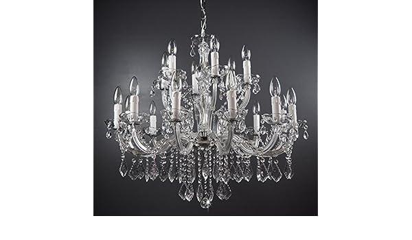 Kronleuchter Kristall Silber ~ Kronleuchter kristall lüster Ø75cm 18 flammig exkl. mit