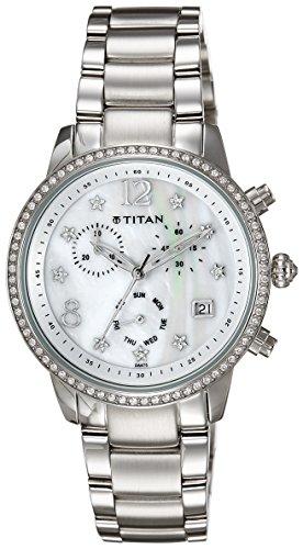 51QtZ7YPf%2BL - Titan NC9854SM02J Women watch